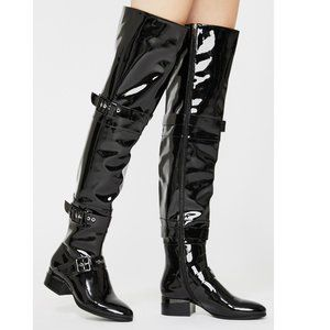 Azalea Wang Black Thigh High Boots Sz US 7 & 7/12